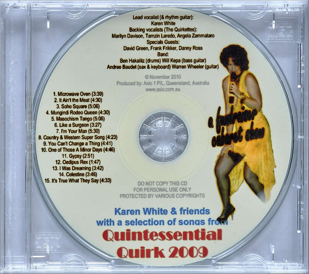 Karen J White′s album ″Quintessential Quirk″ album cover