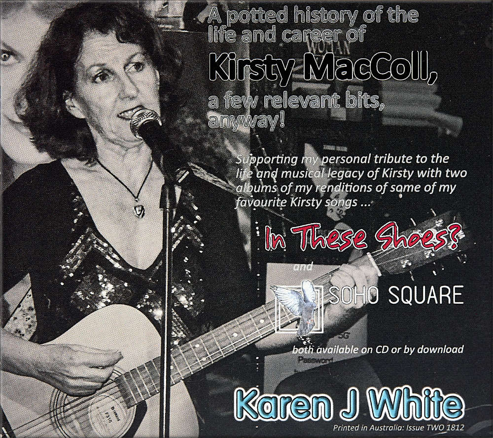 Karen J White′s publication ″Kirsty MacColl pocket guide″ album cover